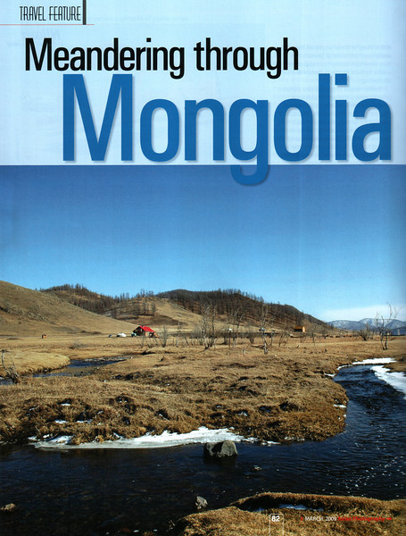 """Asian Photography  http://www.asianphotographyindia.com/  March 2009 Issue - Travel Feature Article - """"Meandering through Mongolia"""" article and pictures by Suchit Nanda.   Asian Photography is India's premier and oldest photography magazine.  You can read the full article with full size images at:   http://suchit.net/photo/mongolia_2009/"""