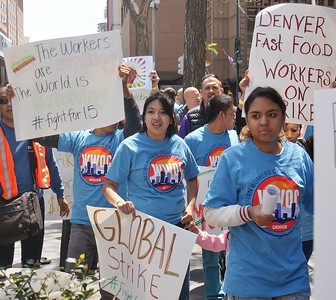 Fast Food Workers Protest - Denver - 5/15/14