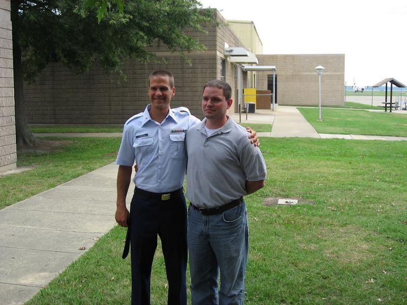 Craig with childhood friend Dave