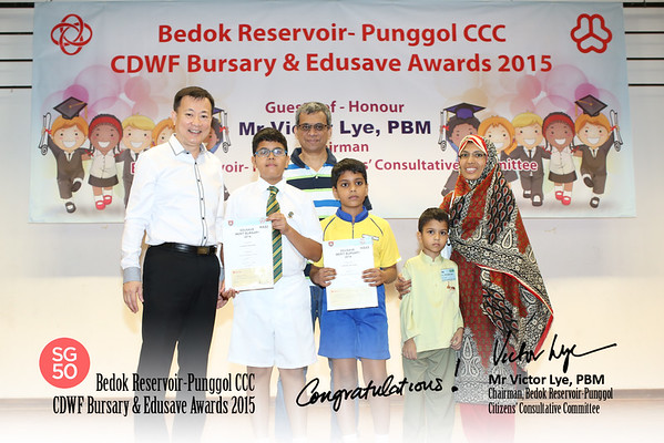 CDWF Bursary  & Edusave Awards 17-1-2015