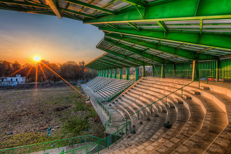 Abandoned Stadium at sunset For a such small city as Bratislava is, we sure have our share of abandoned stadiums.