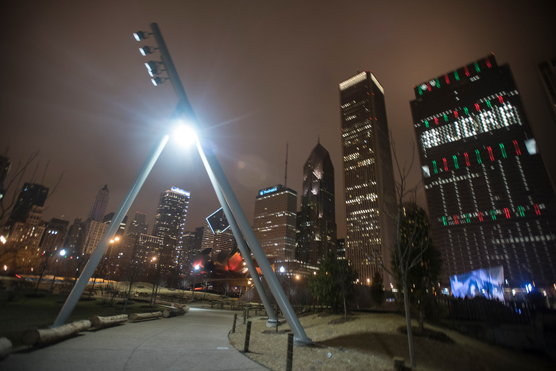 Maggie Daley Park at night