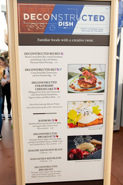 Deconstructed Dish Food Menu - Epcot Walt Disney World