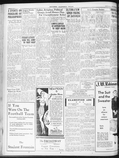 Daily Trojan, Vol. 23, No. 37, November 02, 1931