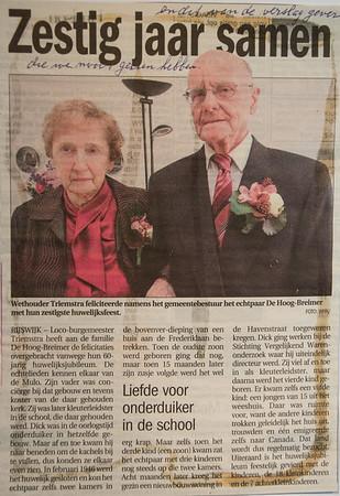60-jarig huwelijk