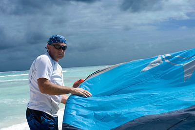 Kiteboarding on Tobago Cays