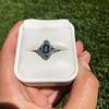 1.41ctw Art Deco Style Aqua and Diamond Dinner Ring 13