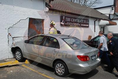 Farmingdale F.D. MVA Car into Building on Main St. 4/19/09