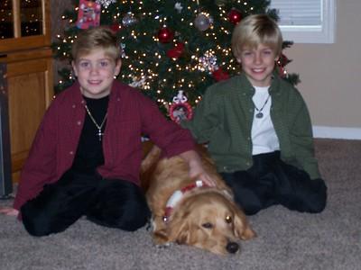 Boys & Abby Christmas 2007