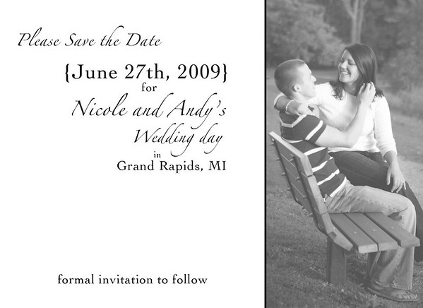 Save the Date - Nicole and Andy