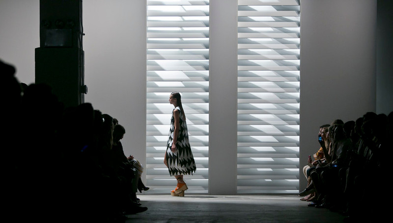. Fashion from Thakoon Spring 2015 collection is modeled during Fashion Week on Sunday, Sept. 7, 2014 in New York. (AP Photo/Bebeto Matthews)