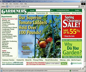 20050406 Gardeners.com Screenshots