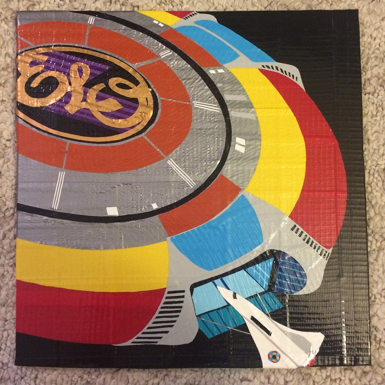 """. Artwork by Jani Reddick <br> The Electric Light Orchestra album \""""Out of the Blue.\"""""""