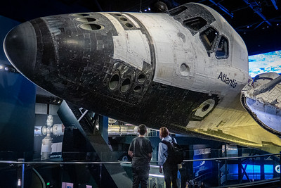 Space Shuttle Atlantis Nose Reaction Control System Thrusters