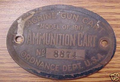 MODEL OF 1917 MACHINE GUN CART #8874