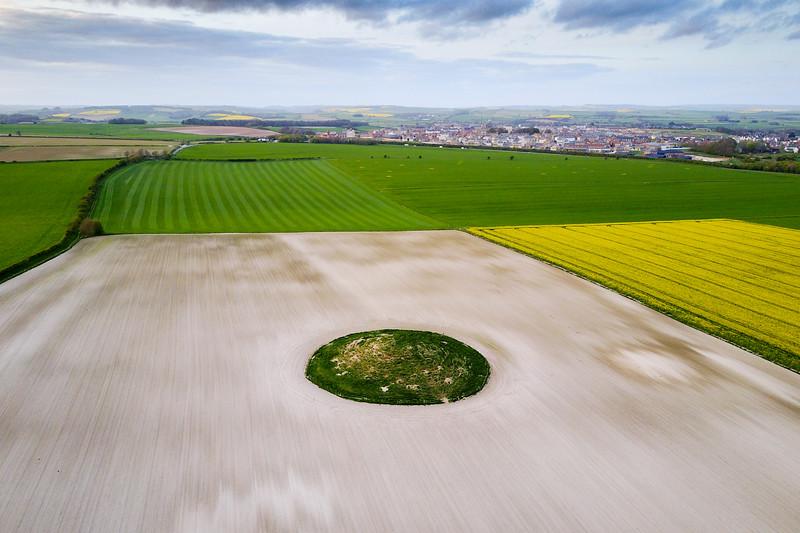 Round barrow on the Dorset Downs