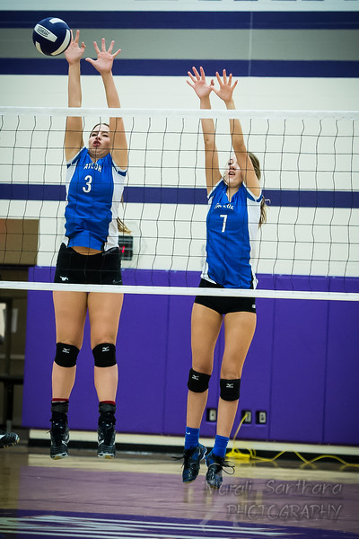 Taylor High School - Volleyball (F) - Varsity - Mustangs Team VS Morton Ranch High School