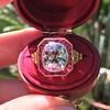 3.12ct Old European Cut Diamond Ruby Halo Ring, GIA L  7