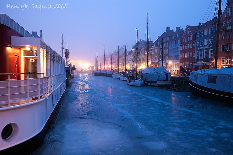 Misty winter morning - Nyhavn, Copenhagen, Denmark