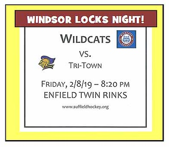 2019_02_08 Wildcats vs TriTown WINDSOR LOCKS night