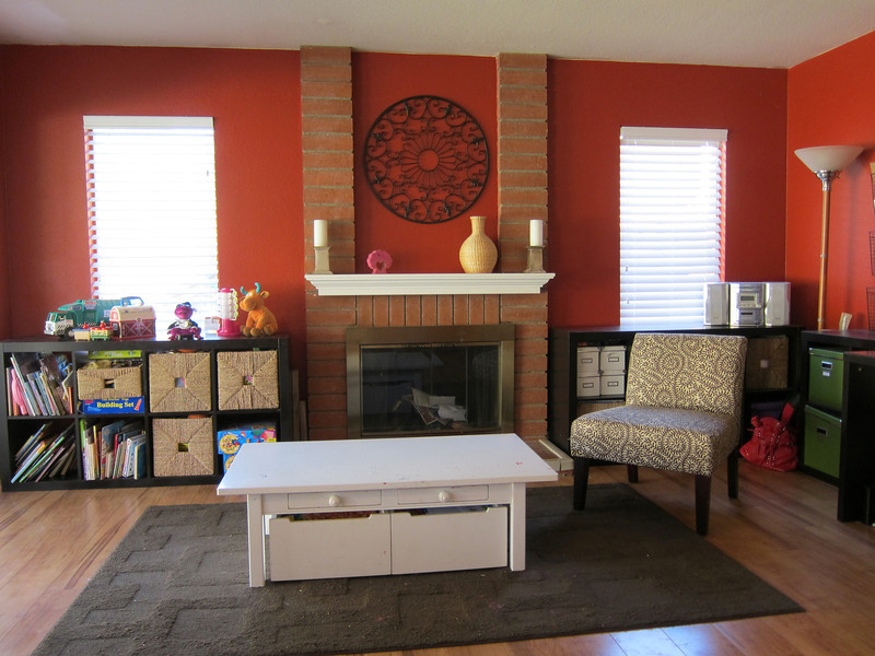 Family room with fireplace...