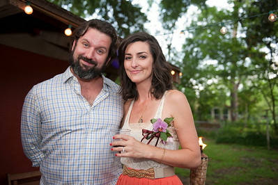 brian and natalie, engagement party