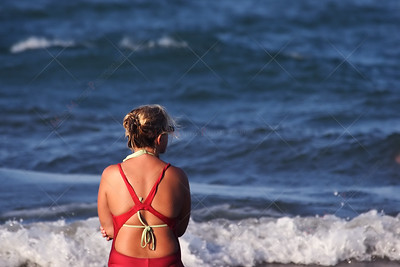 Famale Life Guard on Beach