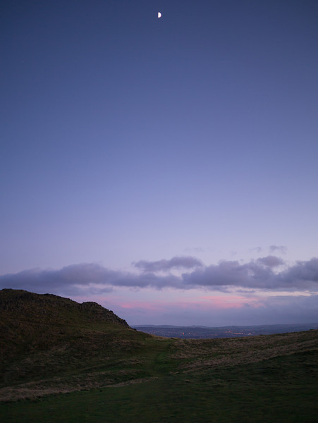 Arthur's Seat plus the moon