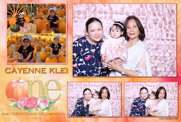Cayenne Klei's 1st Birthday and Christening Celebration