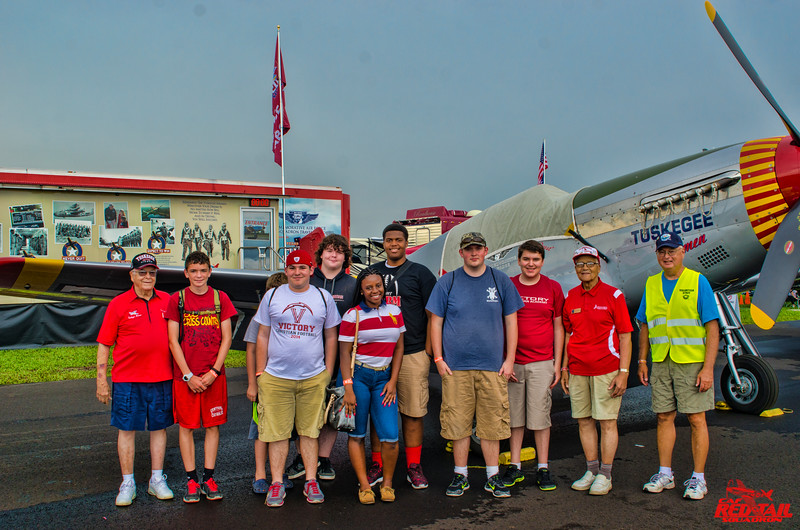 Another of the many groups who came by to see the movie and meet the Airmen.