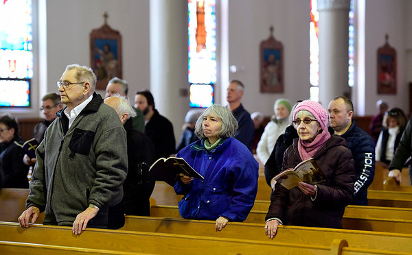 3/6/2019 Mike Orazzi | Staff St Stanislaus Roman Catholic Church during Ash Wednesday Mass in Bristol.