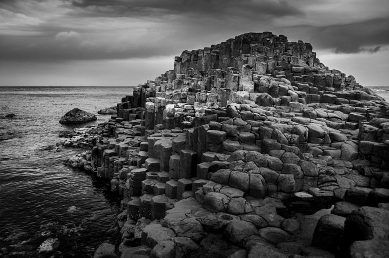 The Giant's Causeway in B&W - Northern Ireland