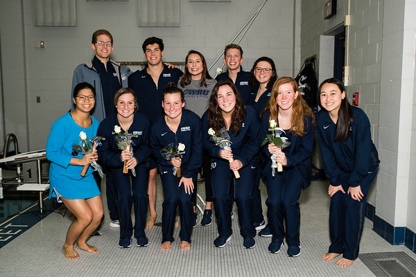 CWRU vs BW Senior Swim Meet 2-1-2020
