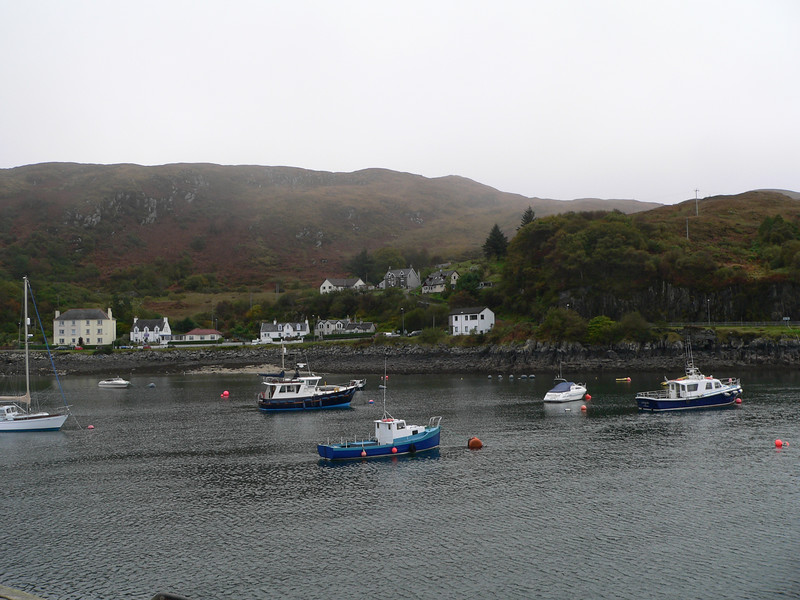 Boats in the harbor at Mallaig