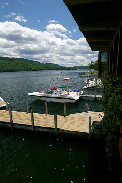 View From Boathouse Restaurant, Lake George, New York