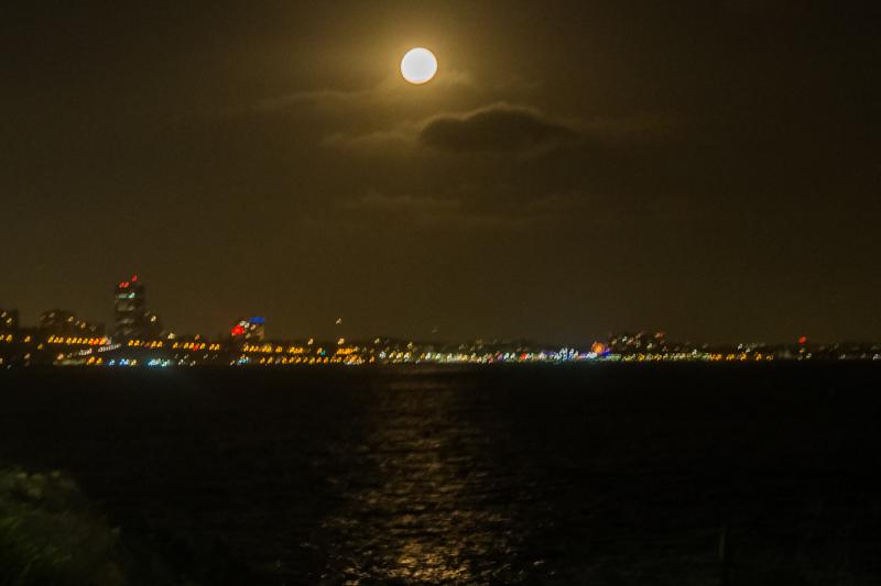 June 28 - The almost full moon dangles over Santa Monica Bay.jpg