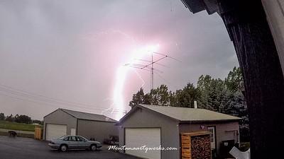 August Lightening Storm in Bitterroot Valley
