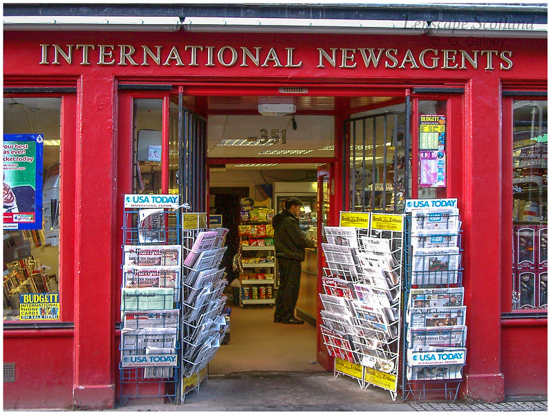 International Newsagents, High Street, Royal Mile  (2002)