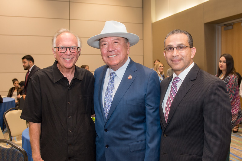 Representative Todd Hunter (left), Senator Chuy Hinojosa, and Representative Abel Herrero.