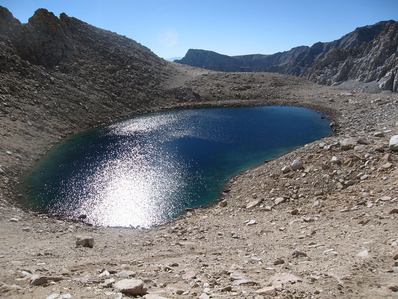 looking back down to EF Lake