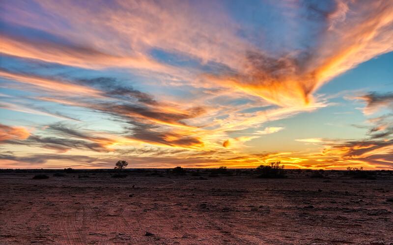 Sunset at William Creek