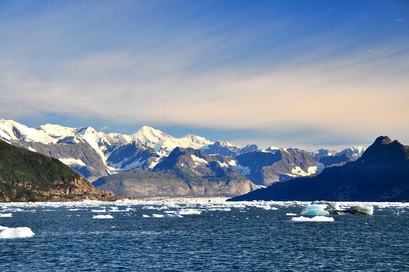 Columbia Bay in front of the Columbia Glacier - Prince William Sound, Alaska