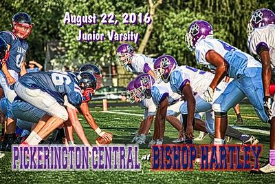 2016 Junior Varsity Pickerington High School Central Tigers at Bishop Hartley High School Hawks (08-22-16)