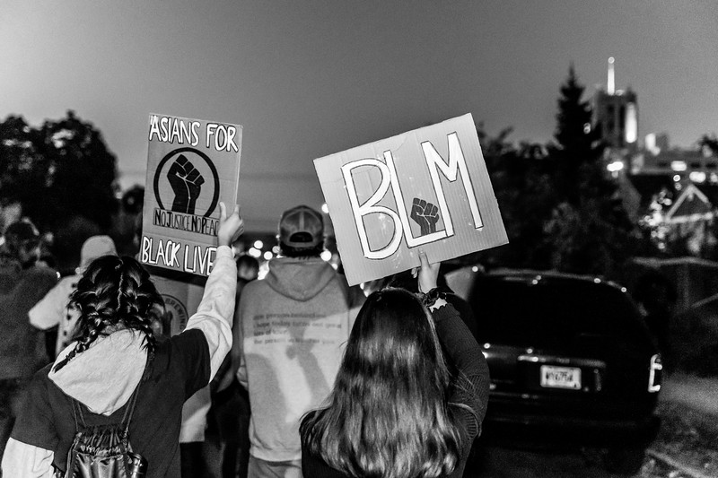 2020 10 07 Chauvin out of jail protest - BW-8.jpg