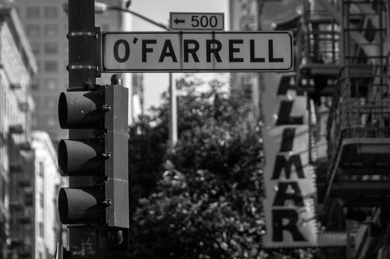 O'Farrell Street in San Francisco, California