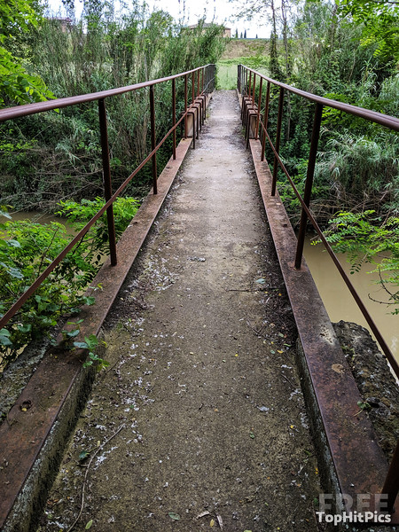 A Bridge in Monteroni D'Arbia, Tuscany, Italy