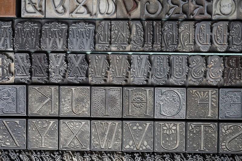 Art Nouveau initials.
