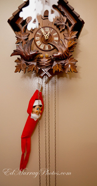 Hang Time: The elf is now the pendulum....(Really didn't have much time on this one because I got home at 1:30 in the morning lol)  12/14/12