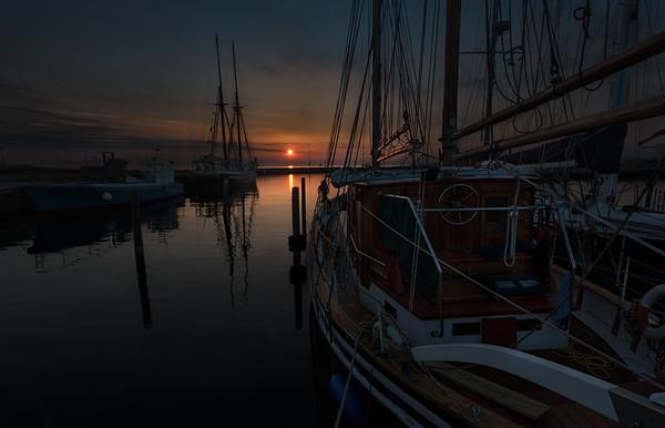 Boats in Sunrise Light