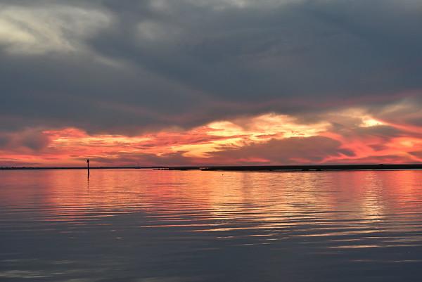Sunset near Jekyll Island 11-25-17